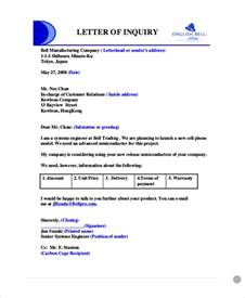 Business Letters Enquiry Sle Business Enquiry Letter 5 Exles In Word Pdf