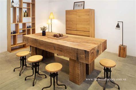 new oak railway sleeper furniture from