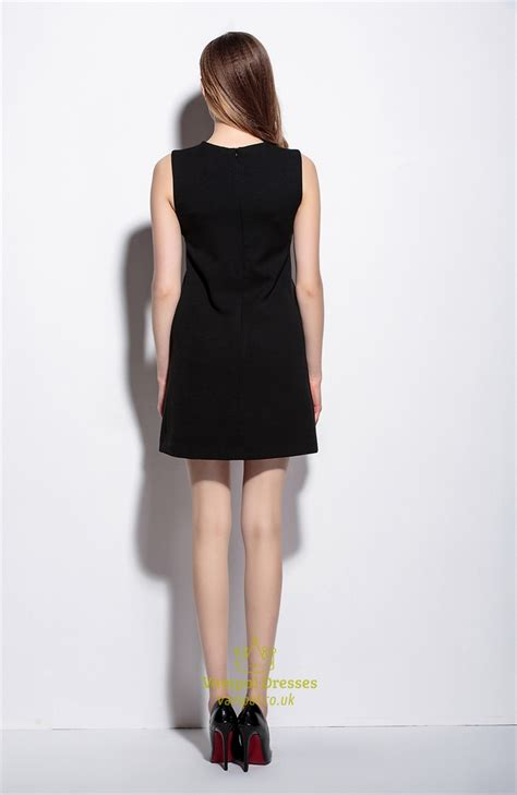 Little Black Dress With Short Sleeve