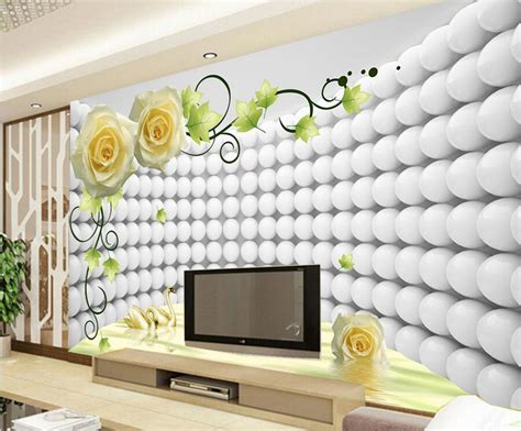 3d Wall Designs Bedroom Aliexpress Buy Custom Modern Wallpaper Design 3d Swan Papel De Parede Hotel