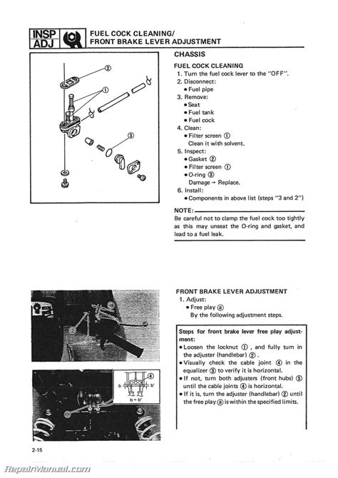 service manuals schematics 1988 volkswagen type 2 head up display 1986 1988 yamaha yfm225 moto 4 atv printed service manual