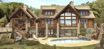 Log Cabin Home Plans St Claire Ii Log Homes Cabins And Log Home Floor Plans