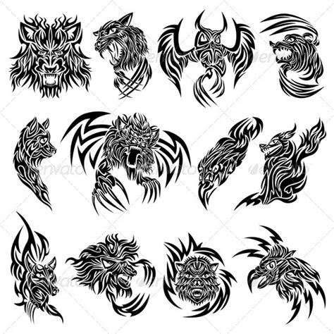 animal tribal tattoos animal and tribal designs tattooshunt