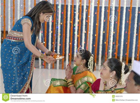 Wedding Blessing Rituals by Indian Hindu Wedding Rituals Stock Photo Image 40321219