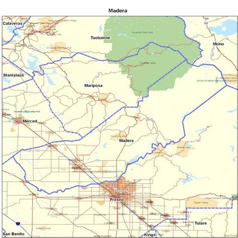 madera california map cities in madera county california