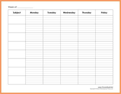 weekly schedule pdf   emailformatsample.com