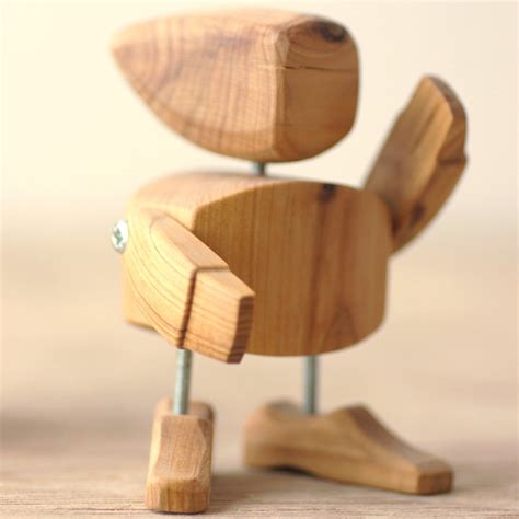 Handmade Wood - handmade wooden robot so that s cool