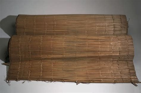 Cattail Mats by Menominee Cattail Mat Collected In 1912 Interior