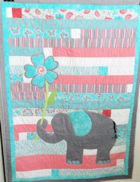 Handmade Applique Quilts - 1000 ideas about elephant quilt on quilt