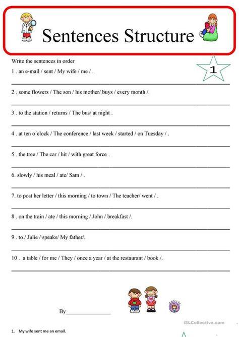 printable english worksheets uk sentence structure 1 worksheet free esl printable