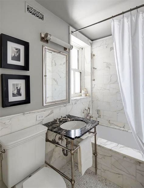 Black And White Marble Bathrooms by White And Black Marble Bathroom Design Contemporary