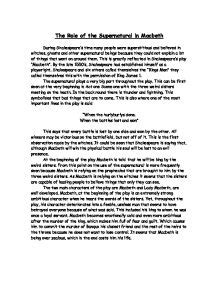 the supernatural in shakespeare english literature the role of the supernatural in macbeth gcse english