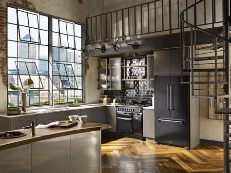 Industrial Kitchen Design New York Designer Wisler Concepted This Industrial Kitchen With Black Aga Legacy