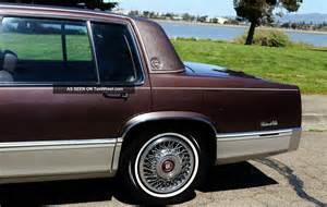 1989 Sedan Cadillac 1989 Cadillac Sedan