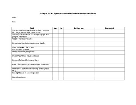 air checklist template 28 template soup air conditioning preventive 28