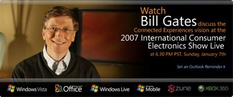 Bill Gates Ces Keynote by Zune Thoughts Bill Gates Ces Keynote Live At 6