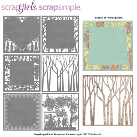 scrapsimple paper templates papercutting