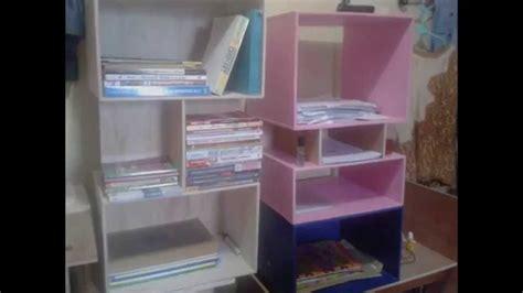 cara membuat lemari make up dari kardus lemari buku minimalis kreatif youtube