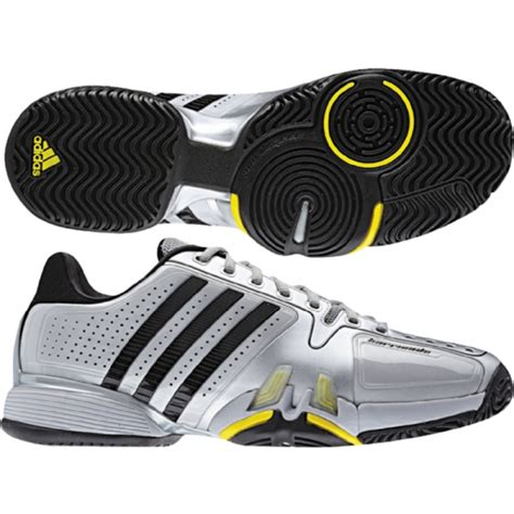 adidas barricade 7 mens tennis shoes silver black