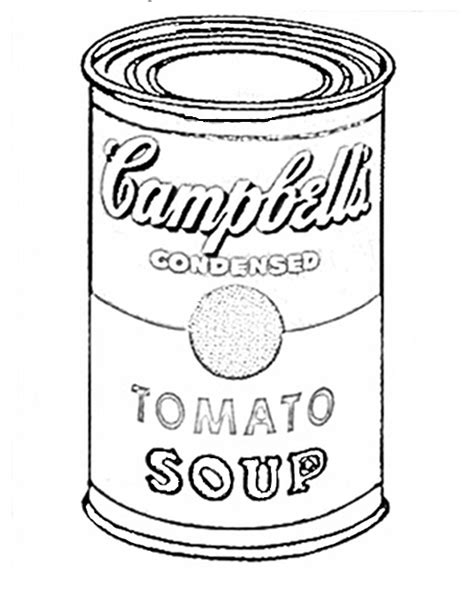Andy Warhol Coloring Pages free coloring pages of pop