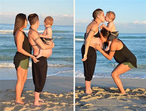 What Couples Do S Side By Side Pregnancy Photos Encourage
