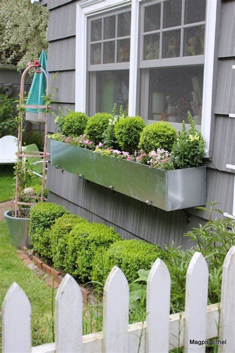 Galvanized Window Planter by 27 Best Images About Window Boxes On