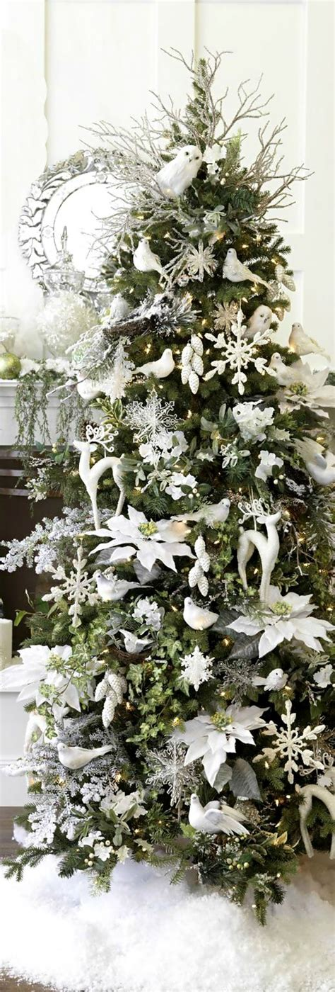 christmas tree white decorations christmas pinterest