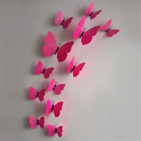 Butterfly 3d Wall Stickers 3d diy butterfly wall sticker butterfly home decor room