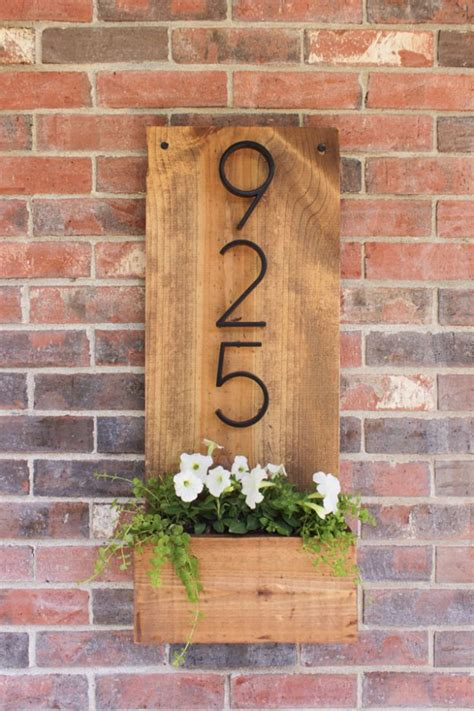Front Door Number Signs 35 Creative Diy House Numbers That Are Better Than
