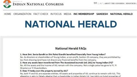 congress defends gandhis in national herald posts