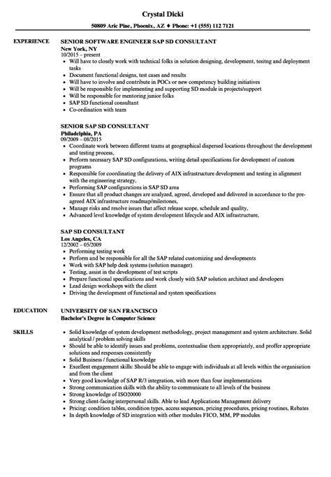 cool sap sd resume sle for experienced pictures