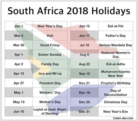 South Sudan Calend 2018 Holidays In South Africa 2018 Sportstle