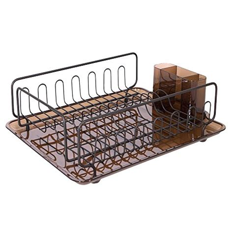 Dish Rack With Drainer Tray by New Bronze Dish Drainer Rack Sink Kitchen Cup