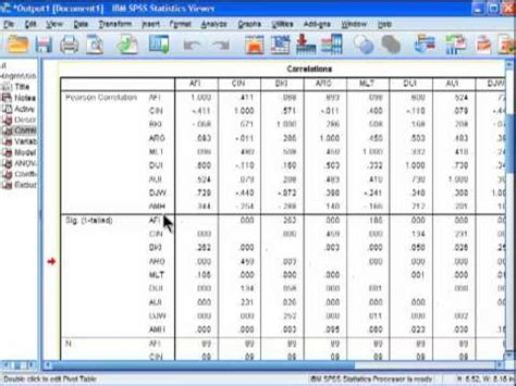 spss tutorial correlation and regression multiple regression spss brief youtube