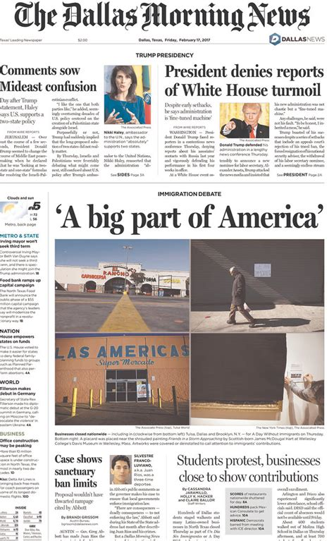 obituary headlines the dallas morning news front page headlines fall for trump s press conference trap