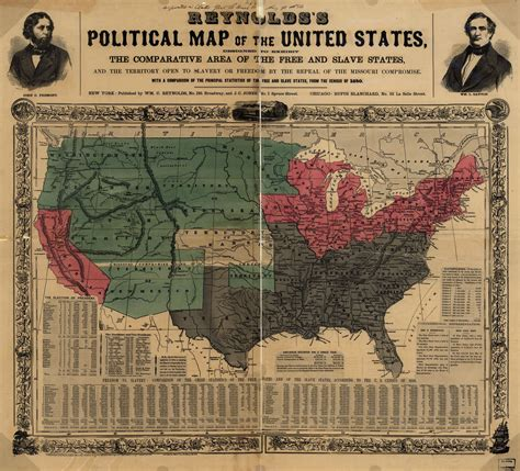 1861 map of united states places in american civil war history maps depicting
