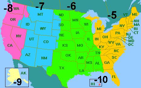 map of usa time zones with cities map time zones usa my