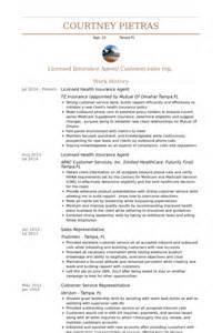Insurance Customer Service Representative Sle Resume by Agente De Seguros Ejemplo De Curr 237 Culum Base De Datos De Visualcv Muestras De Curr 237 Culos