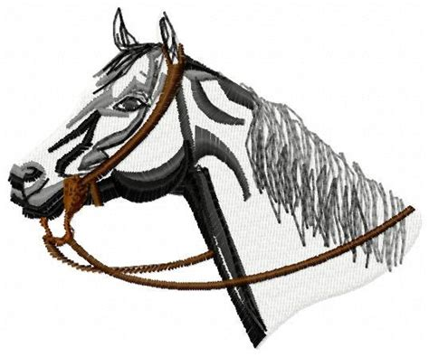 embroidery design horse head horse head embroidery design instant by jembroiderynapplique