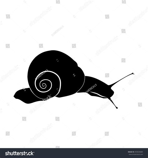 Kemeja Black Abstract White Snail abstract illustration black and white silhouette of snail
