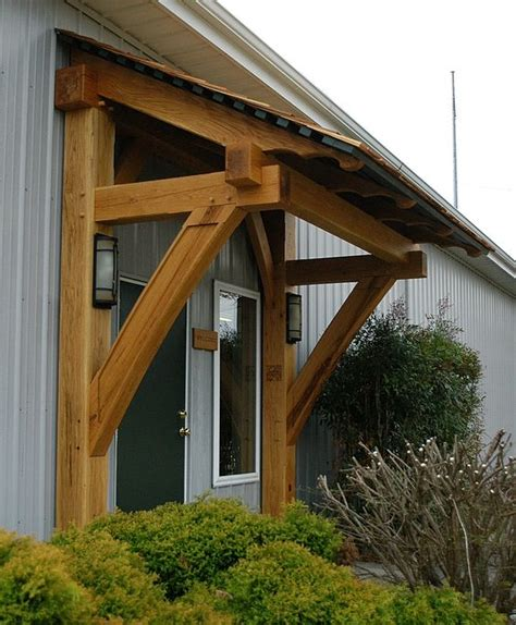 timber awning this timber frame porch and awning are located at our