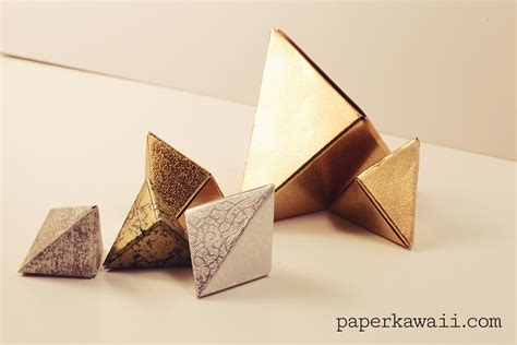Modular Origami Box - modular origami fox box tutorial paper kawaii