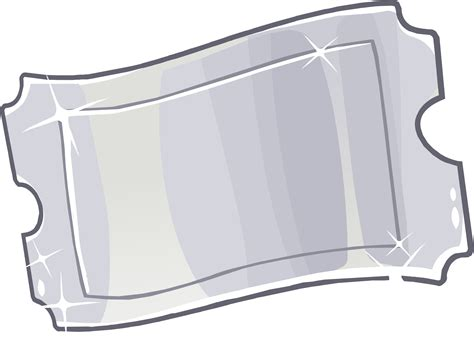image silver ticket png club penguin wiki the free