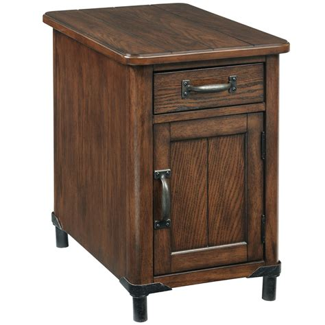 chairside tables with storage broyhill furniture saluda chairside chest with magazine