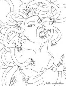 Mythology Coloring Pages medusa the gorgon with snake hair coloring pages hellokids