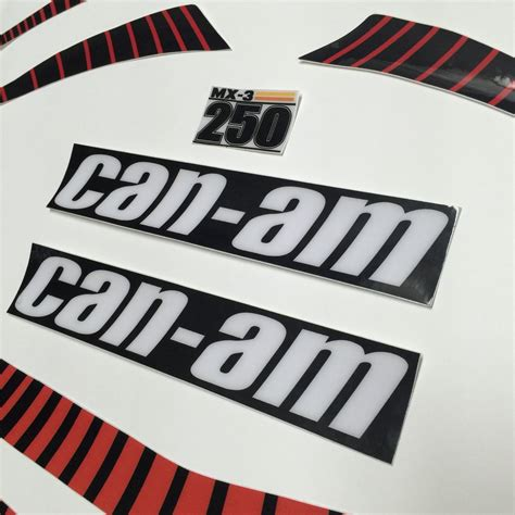 Striping Decal Jupiter Mx New 1 vintage roost can am 1977 mx3 decal kit with non perforated tank and tank stripe