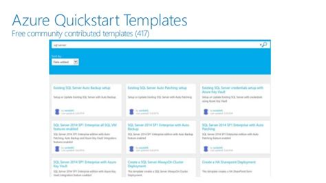 Implement Sql Server On An Azure Vm Azure Quickstart Templates