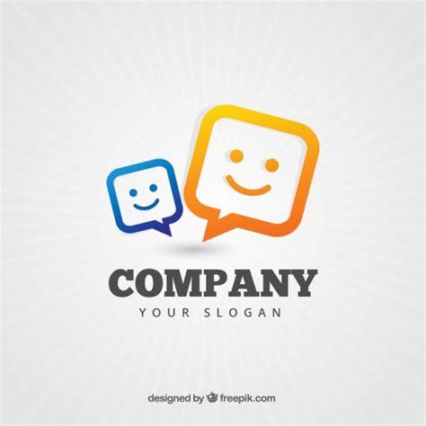company speech company logo with a speech bubbles vector free