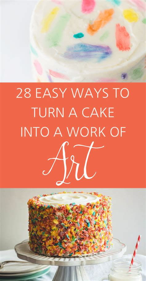 easy ways to decorate a cake at home 28 insanely creative ways to decorate a cake that are easy af