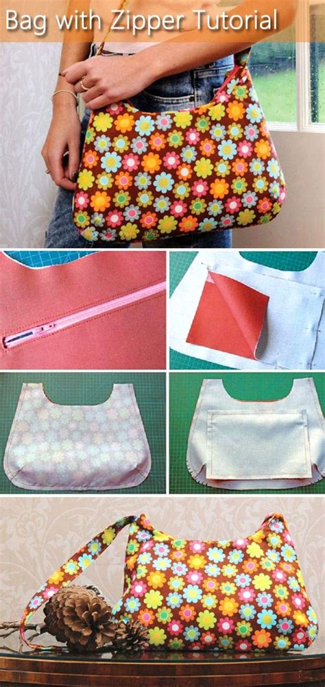 tutorial tas zipper 474 best a bag sewing tutorial images on pinterest